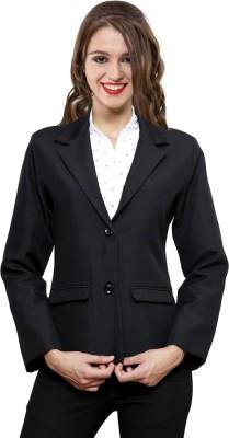 NGT Solid Single Breasted Formal Women's Blazer(Black)