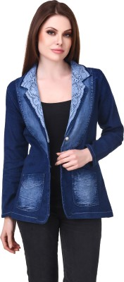 Subu Solid Single Breasted Casual Women's Blazer(Blue)