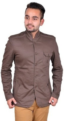 GDS Solid Single Breasted Casual Men's Blazer(Brown)  available at flipkart for Rs.1499