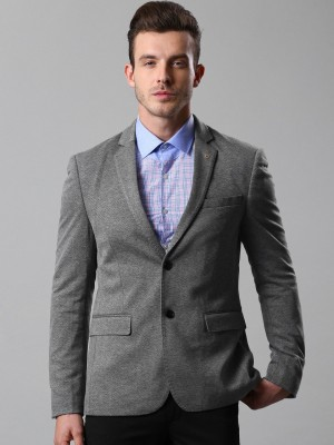 Invictus Woven Single Breasted Formal Men Blazer(Grey) at flipkart