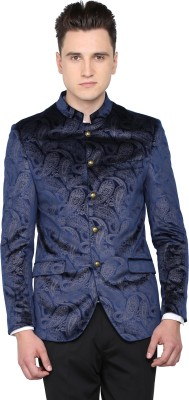 Arrow Solid Single Breasted Casual Men's Blazer(Dark Blue) at flipkart