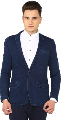 Arrow Sport Solid Single Breasted Casual Men's Blazer(Blue) at flipkart