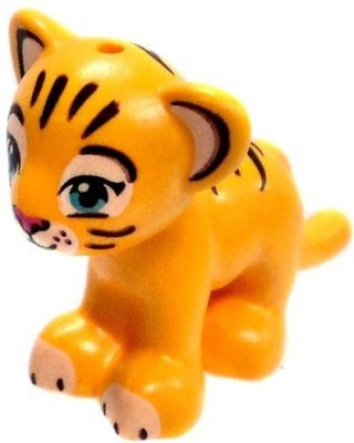 Harry Potter Lego Loose Animal Yellow Tiger Cub [Printed Face](Gold)