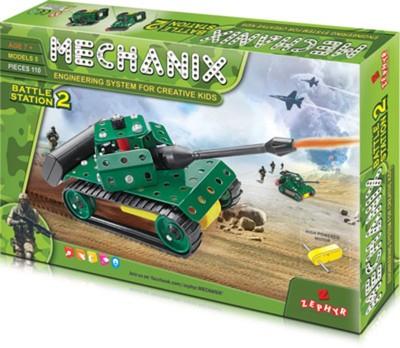 MECHANIX Battle Station 2  110 Pcs  Multicolor MECHANIX Blocks   Building Sets