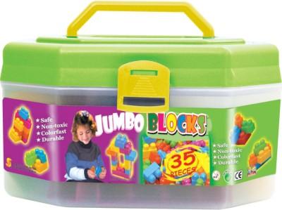 Sunta Sunta Jumbo Blocks   35pcs In Container Multicolor Sunta Blocks   Building Sets