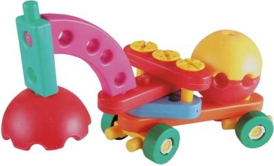 AND Retails 50 Pieces Junior Engineer Construction-Vehicles Building Blocks Set(Multicolor)