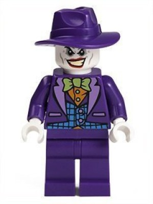 Lego Dc Comics Super Heroes Batman Mini Joker With Widebrim Hat(Purple)