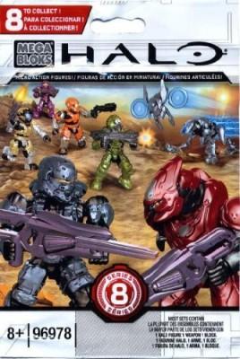 Halo Wars Halo Mega Bloks Series 8 Micro Blind Bag Mini(Multicolor)