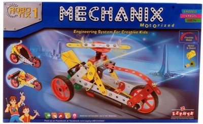 Wishkart Mechanix Robotix 1 Extra Fun and Creativity Loaded for Boys and Girls (114 pieces)(Multicolor)  available at flipkart for Rs.999