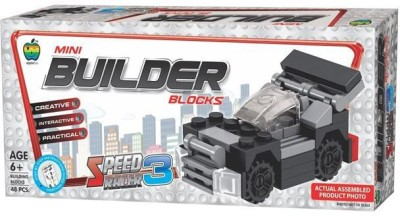 Apple Fun Mini Builder Blocks - SRCR - 3(Multicolor)