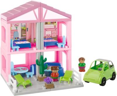 Ecoiffier Abrick House(Pink) at flipkart