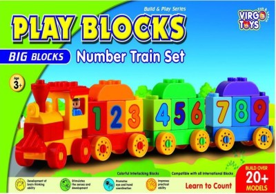 Virgo Toys play block number train(Multicolor)