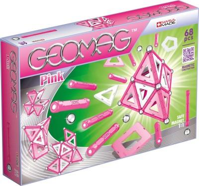 Geomag Pink 68 Pcs Pink, Silver, White Geomag Blocks   Building Sets