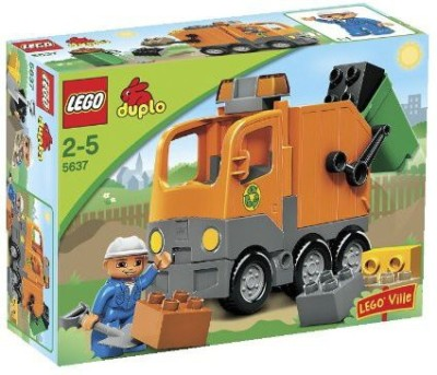 Lego Duplo Ville Garbage Truck (5637)(Multicolor)  available at flipkart for Rs.24428