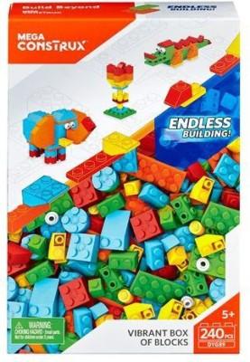 Mega Construx Vibrant Box of Blocks - Large(Multicolor) at flipkart