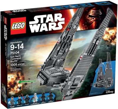 Lego Kylo Ren's Command Shuttle 75104 Building Kit(Multicolor) at flipkart