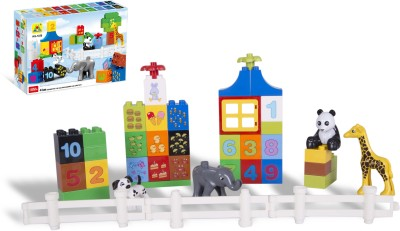 Toys Bhoomi Numerical Learning Building Block Set   42 Pieces Multicolor Toys Bhoomi Blocks   Building Sets