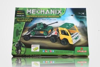 ZEPHYR Metal Mechanix Battle Station Transporter Green ZEPHYR Blocks   Building Sets