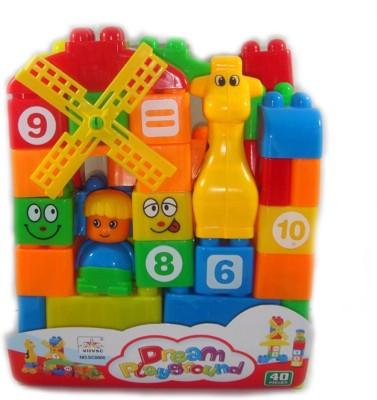 Khareedi Dream Playground Block Costruction for Kids Multicolor Khareedi Blocks   Building Sets