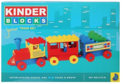 Peacock Kinder Blocks Junior Train Set Peacock Blocks   Building Sets