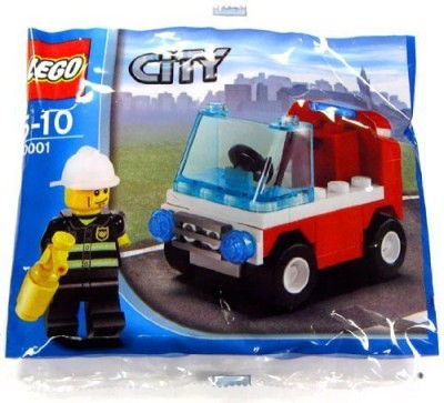 Lego City Exclusive Mini Figure Set Car Bagged(White, Black, Blue)  available at flipkart for Rs.1945