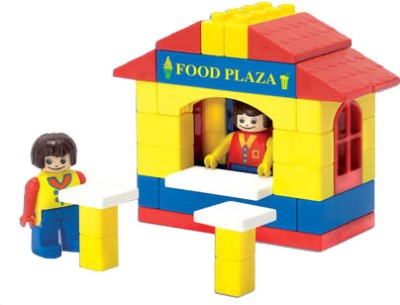 Peacock Kinder Blocks Food Plaza Peacock Blocks   Building Sets