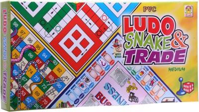 Techno Ludo Snake & Trade (Medium) Board Game  available at flipkart for Rs.134