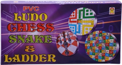 Techno Mini Ludo Chess Snake and Ladders - 3 in 1 Board Game  available at flipkart for Rs.106