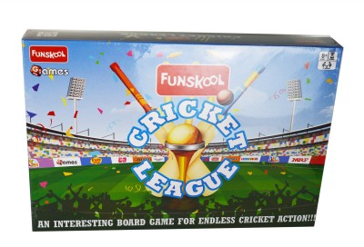 Funskool CRICKET LEAGUE, An Interesting Board Game for Endless Cricket Fun Board Game Accessories Board Game