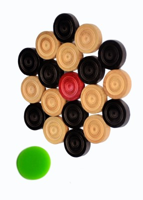 Sagar wooden Carrom Coins with acrylic Striker set of 25 piece Board Game  available at flipkart for Rs.196