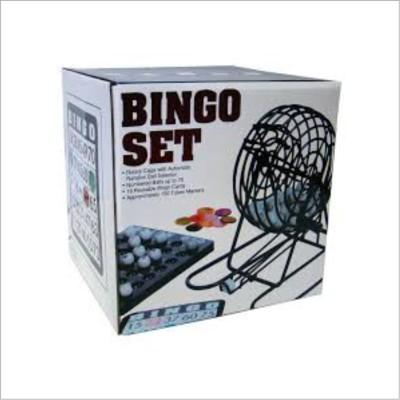 Smiledrive Rotary Cage Bingo/Lotto Gage Set with Automatic Random Ball  Selector Board Game