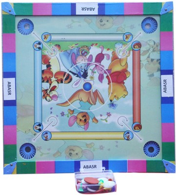 Abasr 002 2 inch Carrom Board(Multicolor)