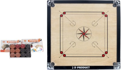 JD Sports 32 1.5 inch Carrom Board Black
