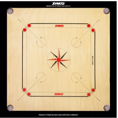 SYN6 Full Set (Carrom Board+Striker+Coins+Powder) 20 inch Carrom Board(Multicolor)