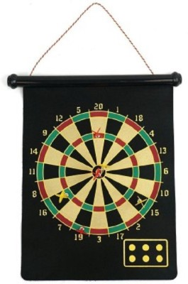 Cuddles Magnetic Roll-Up And Bullseye Game Steel Tip Dart(Black, Pack of1)