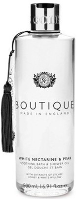Grace Cole Boutique Range - Soothing Bath & Shower gel - White Nectarine & Pear(500 ml)  available at flipkart for Rs.550