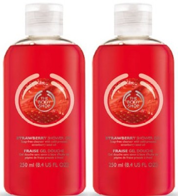 The Body Shop Strawberry Shower Gel Pack Of 2(500 ml, Pack of 2)