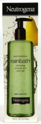 Neutrogena Rainbath Renewing Shower and Bath Gel Pear & Green Tea Fragrance Pump Bottle Pack of 2(480 ml)