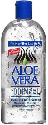 Fruit Of The Earth Aloe Vera 100 % Gel For Sunburn, Dry, Irritated Skin (340gm)