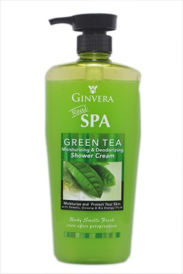 Ginvera Green Tea Moisturizing & Deodorizing Shower Cream(1000 ml) at flipkart