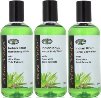 Aloe Veda Indian Khus Herbal Body Wash(900 ml, Pack of 3) at flipkart