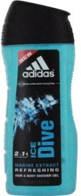 ADIDAS ICE DIVE by HAIR & BODY WASH for MEN(Package Of 2)(248.388 ml, Pack of 2)  available at flipkart for Rs.5239