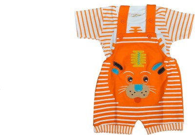 Mahadhi Baby Boy's Orange Bodysuit