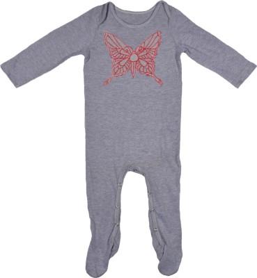 Rute Baby Girls Grey Sleepsuit