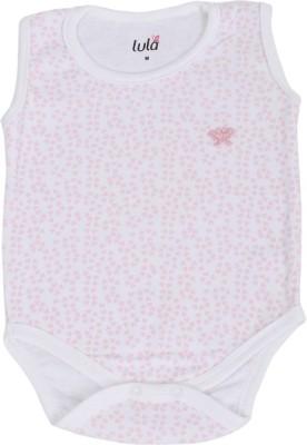 41% OFF on Lula Pink Foot Print Baby Girls White Bodysuit on Flipkart  e8e1483cd