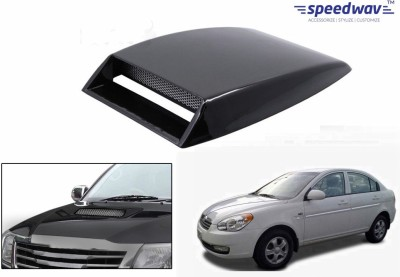 Speedwav Car Turbo Style Air Intake Black-Hyundai Verna Type 1 Bonnet Scoop  available at flipkart for Rs.348