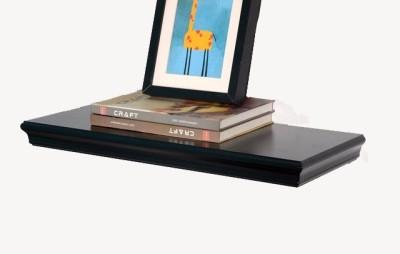 Kingscrafts Solid Wood Open Book Shelf(Finish Color - Black)
