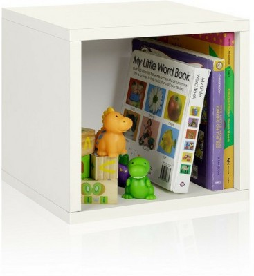 A10 Shop Engineered Wood Open Book Shelf(Finish Color - Frosty White)