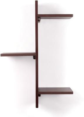 Amour Solid Wood Open Book Shelf(Finish Color - Brown) at flipkart
