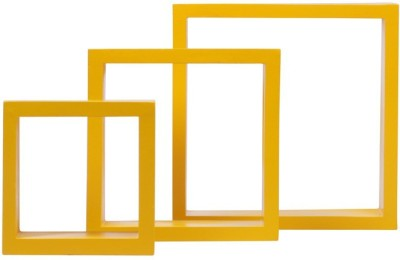 Amour Solid Wood Open Book Shelf(Finish Color - Yellow) at flipkart
